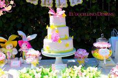 Adorable garden birthday cake