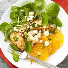 Add some kick to your salad with the bold flavor of watercress. The sproutlike leaf is filled with vitamins, and its spicy flavor blends deliciously with tangy oranges and salty feta in this easy recipe. /