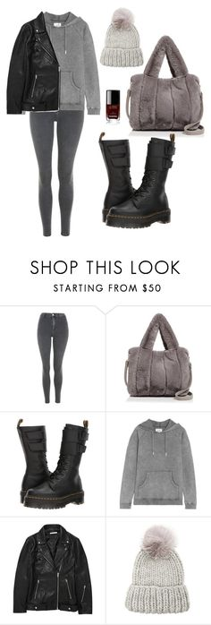 """""""clouds"""" by needlework ❤ liked on Polyvore featuring Topshop, Street Level, Dr. Martens, Zoe Karssen, T By Alexander Wang, Eugenia Kim and Chanel"""