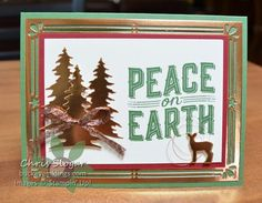 """We made this card in our Team Meeting this week with """"Carols of Christmas"""", a set that Demonstrators can preorder in July. Stampin' Up! is also giving this set (and much more!!) away FREE to new Demos in Starter Kits this month. New Demos can also get the coordinating framelits early if they choose, as part of their Starter Kit or in any future orders. Scroll past the card details for more info on the Starter Kit. This bundle makes a gorgeous card...and it..."""