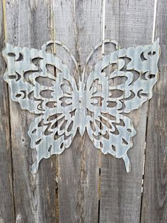 Butterfly Corrugated Metal Sign Free Shipping