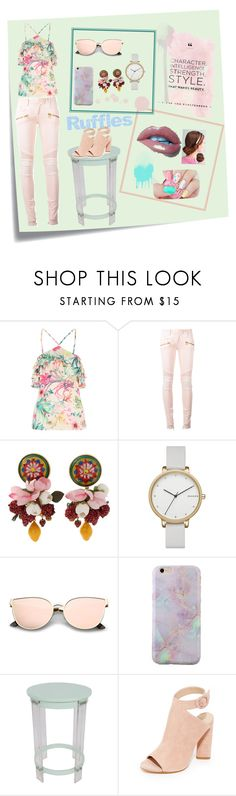 """""""🍀Ruffles🌸"""" by rstylista ❤ liked on Polyvore featuring Post-It, Balmain, Dolce&Gabbana, Skagen, Sagebrook Home and Kendall + Kylie"""