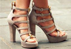 chunky stacked heel :) love
