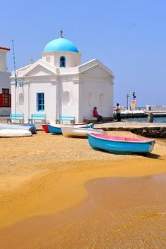 Mykonos, Greece <><><><><><> I've always wanted to go to Greece
