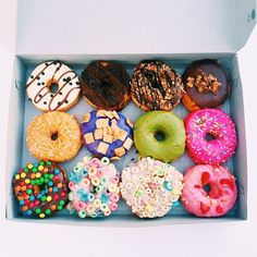 It's raining in Southern California today, so here's a box of donuts to brighten the day