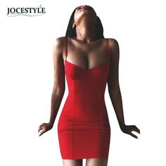 Spaghetti Strap Sleeveless Bodycon Bandage Dress