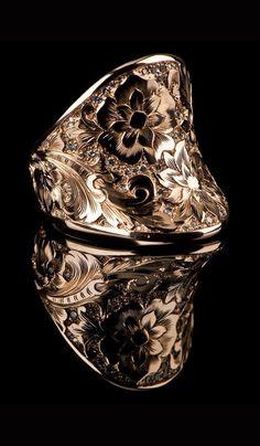 J. Chapa Hernandez | Gold Ring GR-603 - WOMEN'S JEWELRY | Bellevue, WA #men'sjewelry
