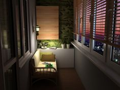 Closed balcony - adorable tiny space to wind down.