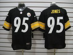 Nike NFL Pittsburgh Steelers 95 Jarvis Jones Black Elite Men Jersey  22.99 b894ea44f