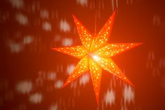 Venus Sunrise Orange is a warm orange star lantern with star cutouts to allow light to shine through. Paper Star Lights, Paper Star Lanterns, Paper Stars, Star Light Shade, Light Shades, Halloween Displays, Halloween Party Decor, Ceiling Lamp Shades, Orange Paper