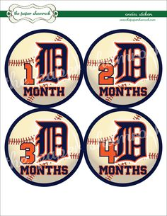 Detroit Tigers Onesie Stickers - gotta show our love for the Tigers!