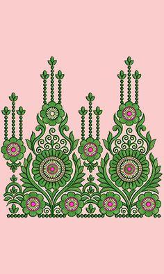 Designer Border Fashion Embroidery Design 14892 Embroidery Designs For Sale, Border Embroidery Designs, Kurti Embroidery Design, Embroidery Flowers Pattern, Embroidery Motifs, Machine Embroidery Patterns, Embroidery Fashion, Embroidery Kits, Textile Pattern Design