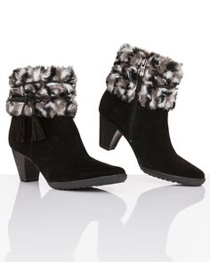Caprice | Women's Fashion | Stiefeletten mit Fell | #HSE24 #accessories #shoes