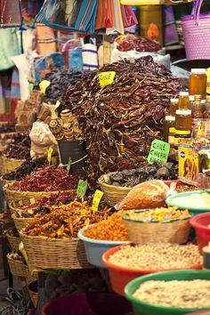 chiles at the market, Oaxaca, Mexico