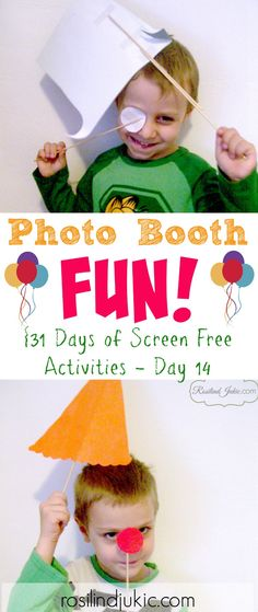Turn the TV off and make memories with a Photo Booth photo session with your kids.