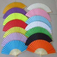 Cheap fan 12'', Buy Quality favor kids directly from China fan heart Suppliers: Summer Chinese Hand Paper Fans Pocket Folding Bamboo Fan Wedding Party FavorUSD 1.01-1.15/pieceColorful Tissue Paper Tas