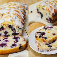 pain bleuet glaçage