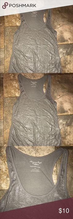 American eagle racerback tank top size small American eagle racerback tank top size small EUC  Let's bundle !  10% off on ANY two items purchased AND shipped together.  15% off ANY three items purchased AND shipped together! American Eagle Outfitters Tops Tank Tops