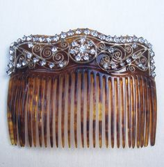 Victorian hair comb celluloid faux by ElrondsEmporium on Etsy