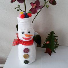 Çoraptan kardan adam - Kış mevsiminde yapılabilecek çok güzel bir faaliyet.