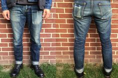 After 18 months of wear and just 1 wash, forum user, this mid-weight pair of Detroit Denim Heritage Jean have developed a striking set of fades that are completely personalized to the wearer. Read: http://rwrdn.im/ff-detroit-denim-heritage-jeans