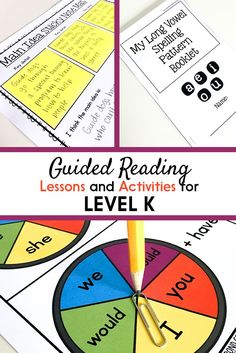 Guided Reading Activities and Lesson Plans for Level K Guided Reading Lesson Plans, Guided Reading Activities, Decoding Strategies, Reading Comprehension Strategies, Phonics Lessons, Phonics Activities, Reading Anchor Charts, First Grade Reading, Lesson Plan Templates
