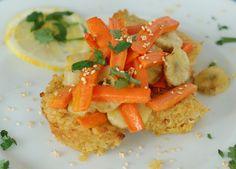 Kichererbsenkuchen mit Gemüse!