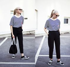 Get this look: http://lb.nu/look/8289359  More looks by Christa Könönen: http://lb.nu/christak  Items in this look:  Zaful Shirt, Zaful Bag, Vans Sneakers   #casual #chic #minimal
