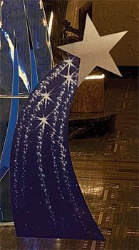 Add our purplish blue Shooting Star Standee set to your theme decor for a spectacular display. These freestanding cardboard props have detailed shooting star images with an star cutout at the top.The Wishing on a Shooting Star Kit includes 2 Pairs of Smal Dance Themes, Prom Themes, Night To Shine, Outer Space Theme, Galaxy Theme, Star Decorations, Space Theme Decorations, Vbs Crafts, Space Party