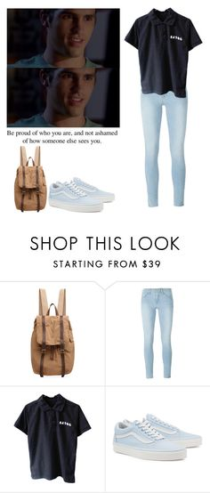 """Jake Fitzgerald - mtv scream"" by shadyannon ❤ liked on Polyvore featuring Organic by John Patrick, Frame and Vans"