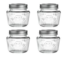 Buy Home 4 Piece Large Preserving Jar Set At Argoscouk  Your Magnificent Kitchen Jar Set Inspiration Design