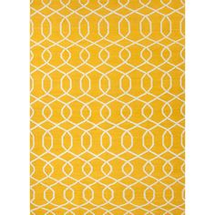 Jaipur Rugs RUG102741 Flat-Weave Geometric Pattern Wool Yellow/Ivory Area Rug ( 8x10 )