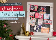 A rustic chalkboard Christmas card display for your home {DIY} | Cardstore Blog