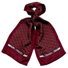 Foulard écharpe soie homme bordeaux paisley - Hommes/Foulard homme - Mes Echarpes