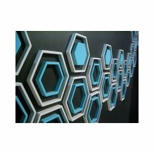 Mod Wall Art: Wallter Retro Hex (Set of - i could see doing this in a stairwell or in a basement for decor. Modern Wall Decor, Diy Wall Decor, Home Decor, Wall Decorations, Decor Interior Design, Interior Decorating, Decorating Ideas, Decor Ideas, Craft Ideas