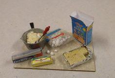 Miniature Making Rice Krispy Treats Scene