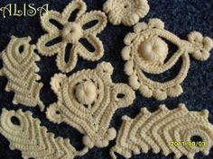 Мотивы ирландского кружева  Irish crochet motif