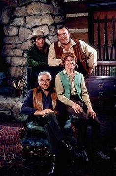 """Bonanza"" Lorne Greene, Michael Landon, Dan Blocker, Mitch Vogel 1971 NBC"