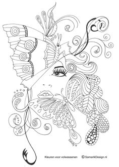Butterfly Papillon Mariposas Vlinders Wings Graceful Amazing Coloring pages colouring adult detailed advanced printable Kleuren voor volwassenen coloriage pour adulte anti-stress kleurplaat voor volwassenen Line Art Black and White