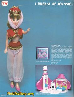 """Remco """"I Dream of Jeannie"""" Jeannie doll and Dream Bottle playset"""