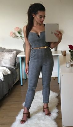 Tamara monochrome dogtooth belted jumpsuit This eloquent Jumsuit Comes In Sizes 8 - 14 :) : http://www.firstcouturefashion.co.uk/#a_aid=Fornalski2