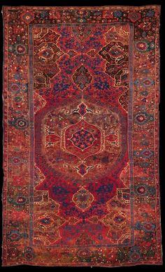 Daniele Ghigo Medallion Ushak carpet, 17th century, Ottoman Empire