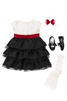 Holiday Dress - red - white - black