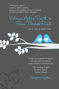 Love Birds Wedding Invite + RSVP Cards by Darrell Dean, via Behance