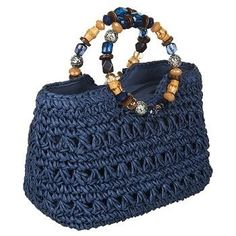 Find Bags Naturalizer online or in store. Crochet Handbags, Crochet Purses, Crochet Bags, Crochet Motif, Granny Square Bag, Armband Diy, Rainbow Crochet, Large Shoulder Bags, Tricot