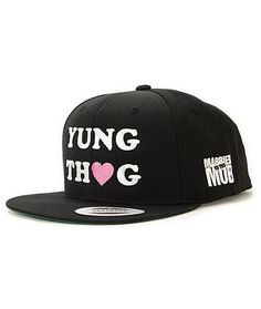 1f598872d19 The Married To The Mob x Lil Debbie Yung Thug snapback hat is an  acrylic-wool blended collab with attitude. Update your outfits with the  black colorway ...