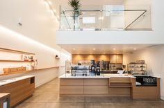 Blue Bottle Coffee Culver City (LA). Single origin coffees in a pretty rad environment.