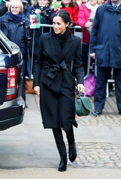Today Meghan Markle and Prince Harry are visiting Cardiff in Wales and she has—three official visits in—already adopted the royal art of referencing her visit via her outfit. Meghan is wearing a pair of £195 black skinny jeans by a Welsh denim brand called Hiut denim, which has an amazing local ...