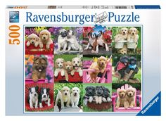 Ravensburger Puppy Pals 500 Piece Jigsaw Puzzle for Adults - Every Piece is Unique, Softclick Technology Means Pieces Fit Together Perfectly Ravensburger Puzzle, Puzzle Shop, Puzzle Art, Buy Puppies, My Little Nieces, Fantasy Images, Crazy Dog, Pretty Pictures, Pretty Pics