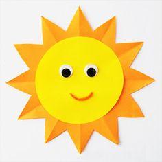 Step 8 Paper Sun Craft Crafts Diy Pinterest Crafts Sun Crafts